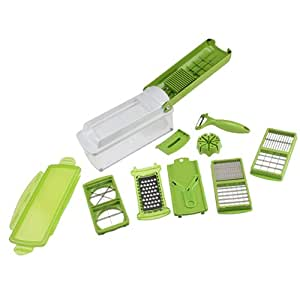 AGPtek Easy Vegetable Fruit Nicer Dicer Slicer Cutter Plus Container Chopper Peeler
