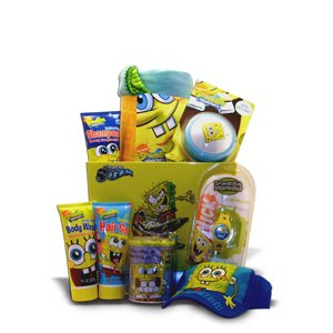 Gift Basket for Kids Spongebob Perfect Preschool Graduation, Birthday and Get Well Soon Gift for Children Under 10
