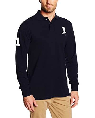 Hackett London Polo New Classic Ls Azul Oscuro