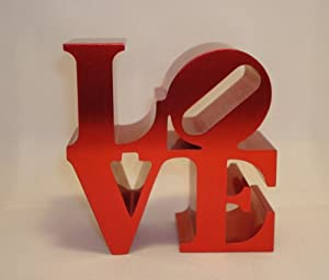Philadelphia Love Replica - Love Paperweight By Robert Indiana (Red)