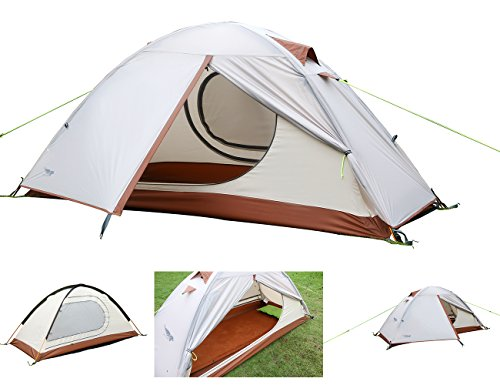 Luxe Tempo Single 1 Person Tent for Camping 3.3LB with Footprint High-end Silnylon Backpacking Tent with Free Hammock For Years Use 2 Doors 2 Vestibules (Freestanding Art Panels compare prices)