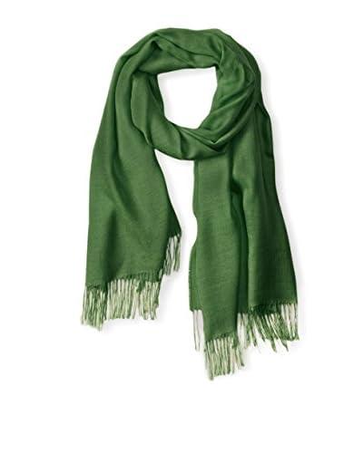 Alicia Adams Alpaca Women's Silk Wrap, Green