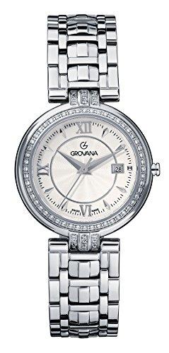 GROVANA 5097,7132 De cuarzo Swiss Unisex reloj infantil con mecanismo de esfera analógica y plateado correa de acero inoxidable de