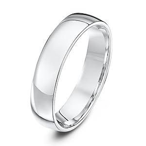 Theia Lightweight Court Shape Wedding Ring - 5 mm, Platinum, Size Z