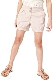 Autograph Pure Cotton Adjustable Waist Jacquard Shorts