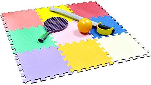 Multi Colored Interlocking Play Mat Set, 9 Piece