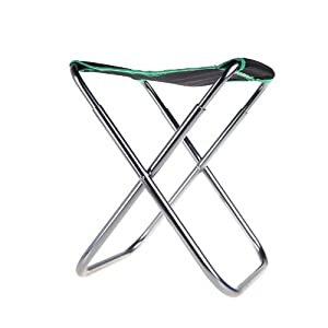 Andoer Portable Folding Aluminum PVC Oxford Cloth Chair Outdoor Patio Fishing Camping with Carry Bag Green