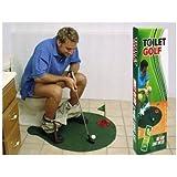 Toilet Bathroom Mini Golf Mat Set Game Potty Putter CJ29