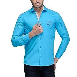 Fender Zone Men's Casual Shirt - 21183-44_Blue_44