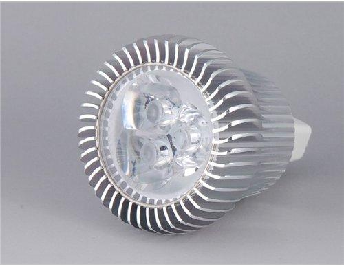 Sd005 3*1W Mr16 3-Led White Light Diy Aluminum Spot Light Shell Kit (Silver)
