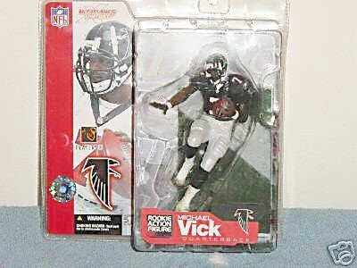 Buy Low Price McFarlane Sports Picks NFL Series 4 Micheal Vick Black Jersey Variant Figure (B000WBQ8VW)