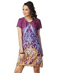 Love From India - Yellow Symmetrical Print Dress_100297_YELLOW_XXL