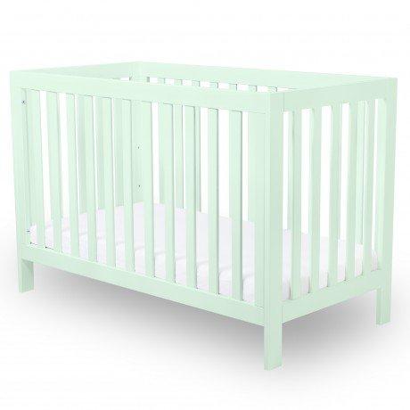 Alfred & Compagnie - Lit bébé évolutif 60x120 hêtre massif menthe