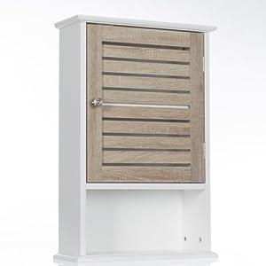 Meuble de rangement haut bois blanc - Meuble rangement aspirateur ...