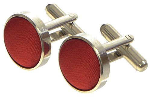 red-high-quality-mens-silky-satin-cufflinks-uk-selller