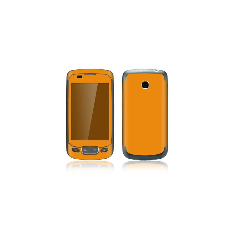 Simply Orange Design Decorative Skin Cover Decal Sticker for LG Phoenix P505 Cell Phone