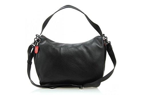 mandarina-duck-mellow-leather-tracolla-black-sacs-portes-main-femme-noir-black-14x31x39-cm-b-x-h-x-t