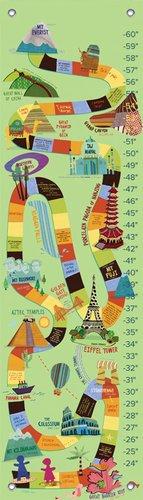 "Oopsy Daisy Growth Chart, World Wonders, 12"" x 42"""