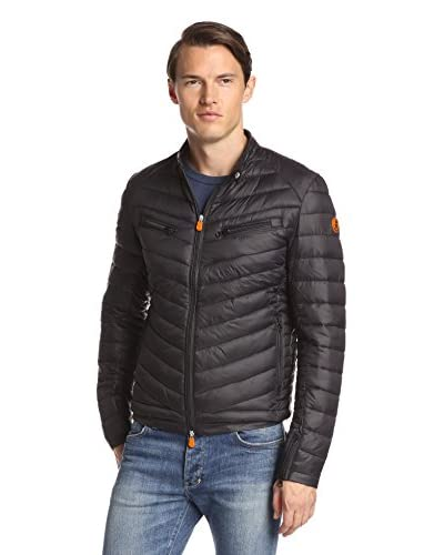 Save the Duck Men's Giga Puffer Moto Jacket