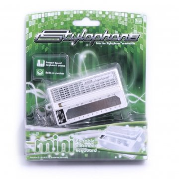 Stylophone Retro Pocket Synth Keychain – White