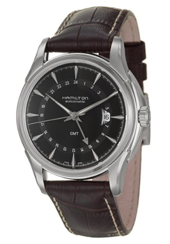 Hamilton Men's H32585531 Jazzmaster Traveler Black GMT Dial Watch