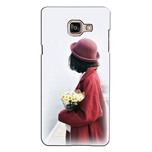 PrintVisa Designer Back Case Cover For Samsung Galaxy On Max (A Beautiful Girl Wearing Red)
