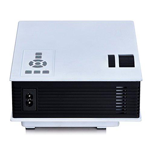 Dolotu uc40 multi media mini 800 lumens lcd led portable for Micro projector screen