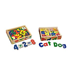 Melissa & Doug Deluxe Magnetic Letters & Numbers in a Box Bundle