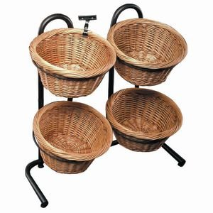 2-2 Tiered Baskets Wicker (Mobile Fruit Stand compare prices)