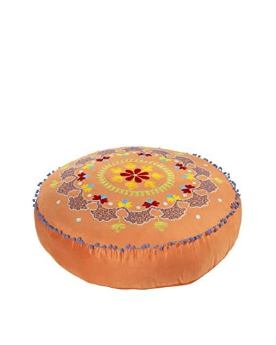 Karma Living Botanical Floor Cushion, Orange
