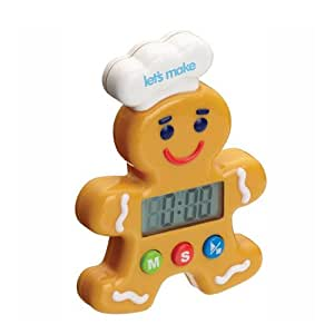Kitchen Craft Let's Make Gingerbread Man Digital Timer