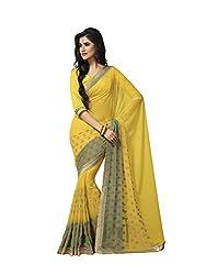 Subhash Sarees Daily Wear Yellow Color Georgette Saree Sari Sarees