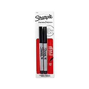 Sharpie Permanent Markers, Ultra Fine Point, Black, 2 Pack (37161)