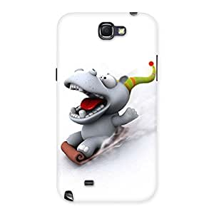 Delighted Slide Dog Back Case Cover for Galaxy Note 2