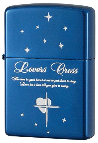 ZIPPO (Zippo) oil lighter NO200 lovers / cross-star blue / silver 63080398