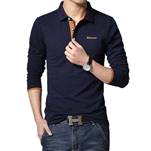 WSLCN -  Polo  - Basic - Maniche lunghe  - Uomo blu X-Large