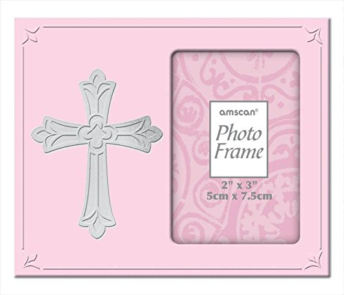 frame metal with cross pink - 1