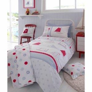 Kirstie Allsopp Ship Ahoy Sailing Boats Single Duvet Quilt Cover Bedding Set Kirstie Allsopp
