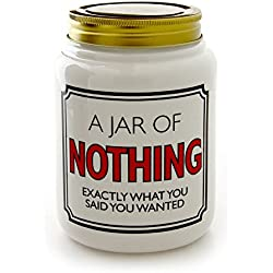 """Enesco 4054500 Our Name Is Mud Jar Of Nothing Kitchen Organization Product, 5.5"""", White"""