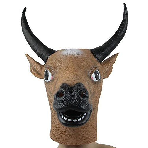 Km Halloween Animal Bull Head Latex Masks/ Masquerade Mask/ Party Mask