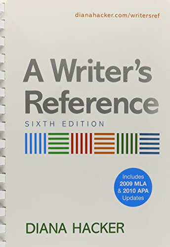 Writer's Reference 6e with 2009 MLA and 2010 APA Updates & i-cite