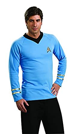 Star Trek Classic Deluxe Blue Shirt, Small Costume
