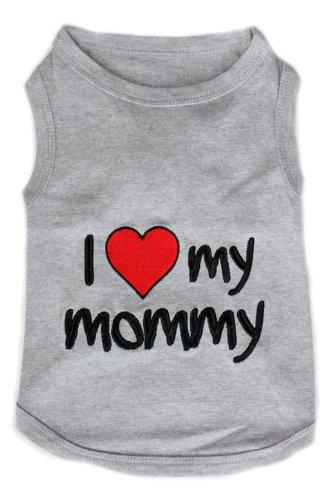 Dog T-Shirt - I LOVE MY MOMMY-Medium