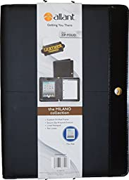 Allant Professional Padfolio with Zippered Closure, Letter Size Writing Pad & Interior Tablet Sleeve, Black