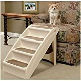 Solvit Products PupSteps+Plus Pet Stairs for Dogs and Cats tan-color- 24