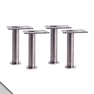 "IKEA - CAPITA Leg, Stainless Steel 4 3/8-4 3/4"" (X4) at Sears.com"