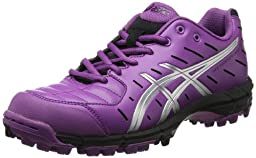 ASICS Women\'s Gel-Hockey Neo Field Hockey Shoe,Violet/Silver/Black,5 M US