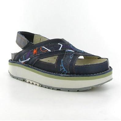 Bio 028 Blue Leather Femme Sandales Size 39 EU: Chaussures