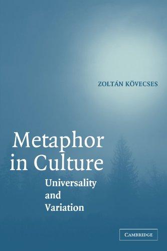 Metáfora en cultura: universalidad y variación