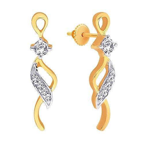 Asmi Asmi 18K Yellow Gold Diamond Stud Earrings (Multicolor)